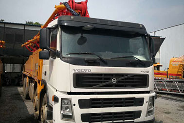 China Putzmeister 42m Concrete Pump Truck Double Rear Axles Type With Volov FM12 Cabin supplier
