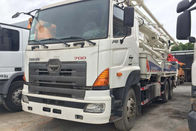 China High Efficiency Concrete Pump Truck , Zoomlion Hino700 Boom Pump Truck factory